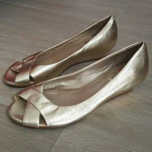 Cole Haan - gold low heel women's shoe